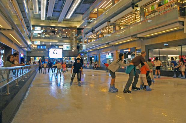 Pista de patinaje en Bangkok